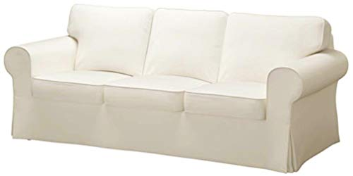 Good Life The Ektorp 3 Seat Sofa Cover Replacement is Custom Made for IKEA Ektorp Sofa Cover, A Ektorp Sofa Slipcover Replacement (Heavier Flax Cotton)