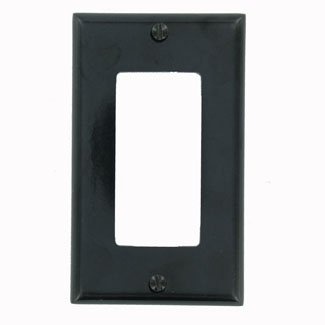 00e Single - Leviton 004-80401-00E Single Gang Black Decora GFCI Wallplate
