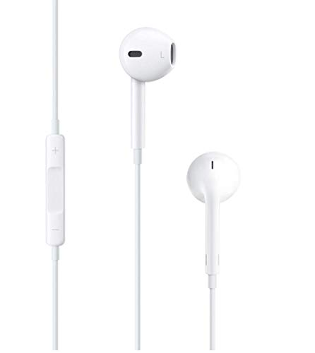 Apple EarPods in-Ear Earbuds with Mic and Remote Earbud Headphones iPhone iOS, White - With Phone Headphones Apple I Mic