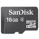SanDisk 16 GB microSDHC Flash Memory Card SDSDQ-016G (Bulk Packaging) – Class 4