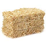LJIF Thanksgiving Fall Harvest Autumn Fall Decorations, 3.5 in, 4 in. Straw Bales, 2 1/2-Inch-by-1 1/4-Inch-1-Inch Bale -
