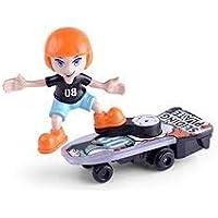 toyRack Sliding Plate Toy -Boy on Skateboard