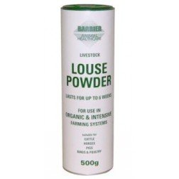 Barrier Livestock Louse Powder - 100% natural insect repellent for cattle, horses, ponies, donkeys, goats, rabbits and other small pets. (500g shaker or 5kg tub) William Hunter Equestrian