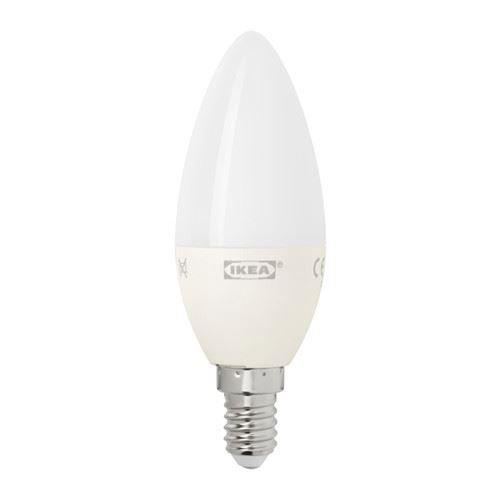 Ledare - Bombilla LED (casquillo E14), regulable, color blanco, diseño de ópalo: IKEA of Sweden: Amazon.es: Iluminación