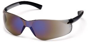 Mirror Lens Ztek Blue - Pyramex S2575S Ztek Safety Glasses Blue Mirror with Blue Mirror Lens (12 Pair)