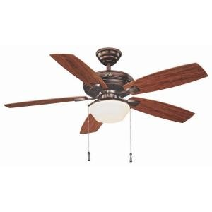 Weathered Bronze Fan - Hampton Bay Gazebo II 52 in. Indoor/Outdoor Weathered Bronze Ceiling Fan