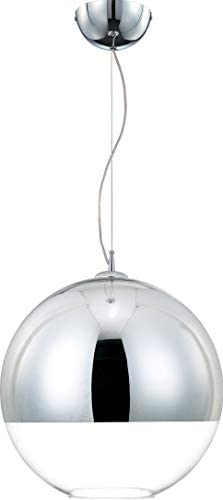 Eurofase 20455-019 Chromos Hand Blown Glass Globe Pendant Light