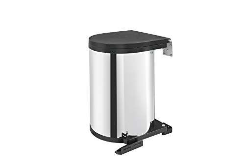 Rev-A-Shelf - 8-010314-15 - 15-Liter Stainless Steel Pivot-Out Under Sink Waste Container