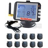 10 Tire RV Cap Sensor Tire Pressure Monitoring System (TPMS) (Best Toad For Rv)