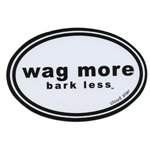 (Wag More Bark Less Bumper Sticker)