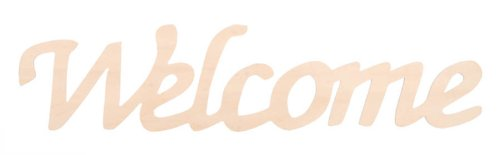 Darice Wooden Script Word: Welcome, 12.25 x 2.75 inches ()