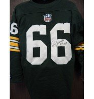 Signed Nitschke, Ray (Green Bay Packers) Green Bay Packers Replica Sweater Jersey Size Large autographed