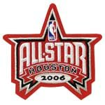 2006 NBA All-star Game Jersey Patch In Houston Rockets