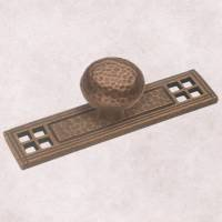 Belwith Keeler Kingston Collection Knob Backplate Antique Satin Bronze