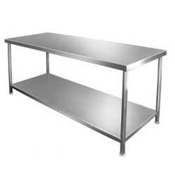 Incredible Auto Pack Machines Stainless Steel Work Table Bench 45X26X34 Inches Silver Andrewgaddart Wooden Chair Designs For Living Room Andrewgaddartcom