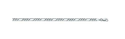 14kt White Gold Figaro Chain Necklace 3.20mm ()