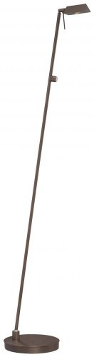 George Kovacs P4314-647, Georges Reading Room Glass Swing Arm Floor Lamp, LED, Copper Bronze