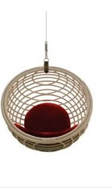 Aashi Enterprise Furniture Rattan Cane Modern Swing Chair (Round)