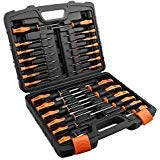 TACKLIFE 26PCS Magnetic Screwdriver Set with Case, Includs Slotted/Phillips/Torx Precision Screwdriver, Repair Tool Kit - HSS1A ()