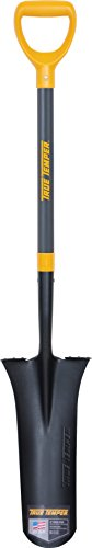 - The AMES Companies, Inc 3531900 True Temper D-Grip Fiberglass Handle Drain Spade, 16 Inch