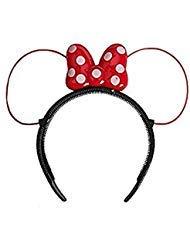 Disney Parks Minnie Mouse LED Headband Light-Up Red & White Polka Dot Bow]()