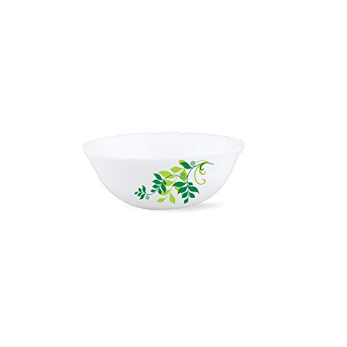 Larah by Borosil Fern Opalware Dinner Set, 27-Pieces, White