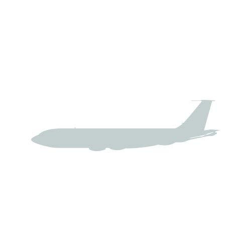 (RDW KC-135 Stratotanker Sticker - Decal - Die Cut - KC 135 Aerial refuelling USAF - Silver 7.00
