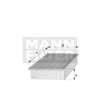 Filtro de aire repuesto MANN 65001192