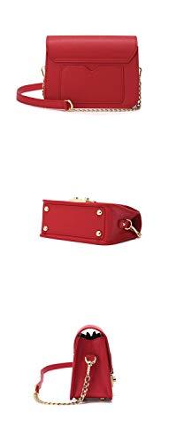 Diagonale Catena Larga Spalla colore Singola Red Wild Nuova Borsa Banda Chain A CwXE7qB