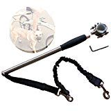 T Tocas Stainless Steel Bicycle Dogs Leash - Walk...