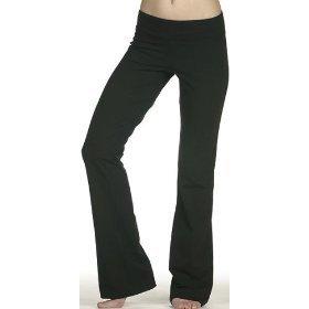 Bella Cotton Spandex Fitness Yoga Pant 810, X-Large, Black