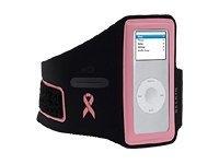 Belkin F8Z153-SGK Sport Armband for iPod nano 1G, 2G 1GB/2GB/4GB/8GB Susan G. Komen Edition Black/Pink