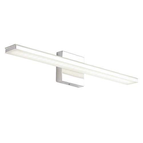 Ralbay 24 Inch Bathroom Vanity Light Fixtures Modern Mirror Lamps Stainless Steel Wall Lights 5500K Cool White Light