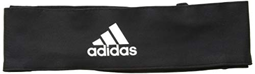 adidas Alphaskin Tie Headband, Black/White, One Size