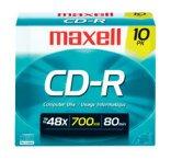 (Disc, CD-R 80 min, branded, Slim Jewel, 10/PK, 48x [Non - Retail Packaged])
