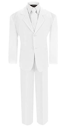 Boy's Formal Dresswear Set G214 (8, White Suit)]()