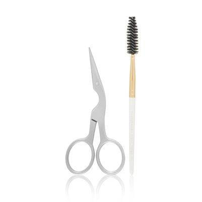 (Tweezerman Brow Shaping Scissors and Brush Model No. 2914-R)