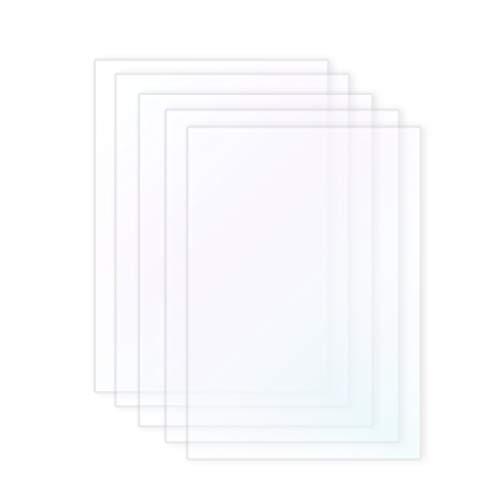 FEP Film Sheet for LCD 3D Printer FYSETC 200 x 140mm Thickness 0.15mm High Transmittance Strength for UV 3D Printer Wanhao D7 DLP Photon LCD SLA Resin Pack of 5