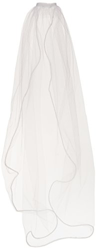 Darice VL3045 Pearl Edge Veil with Comb, 40 by 30-Inch, White