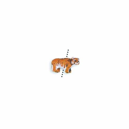 (Peruvian Shipwreck Hand Crafted Ceramic Tiger Beads, 10 by 15mm, Orange, 4 Per Pack )