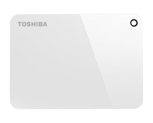 Toshiba Canvio Advance 1TB Portable External Hard Drive USB 3.0, White (HDTC910XW3AA) by Toshiba (Image #1)