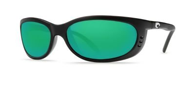 Costa Del Mar Fathom Sunglasses Matte Black/Green Mirror - Sunglasses Costa Fathom
