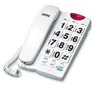 JWIN JTP550W 10-Memory Big Button Speakerphone (White)