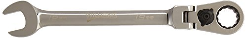 Williams 1219MRCF 19mm Flex Head Reversible Ratcheting Comb Wrench, 12 Point