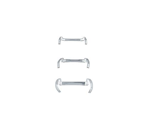 14k White/Yellow Gold Filled Metal Ring Guard - Small Medium Large (Pack of 3) (White)
