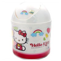 Hello Kitty Mini Size Trash Can - Small Garbage Containers by Hello Kitty