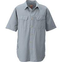 Gravel Gear UPF 30 Quick-Dry Polyester Ripstop Shirt - Short Sleeve, Steel Gray, Large