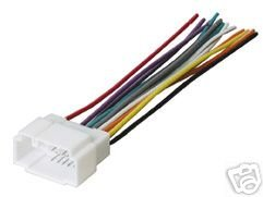 213CSE700CL amazon com stereo wire harness honda civic 01 02 03 04 2004 car car audio wiring harness diagram at soozxer.org