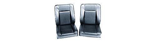 - Black Vinyl Seat Set (7450) for Land Rover Series 2, Series 2A, and Series 3