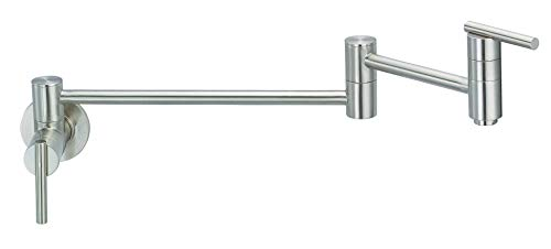 Filler Wall Pot Mount - Danze D205058SS Parma Wall Mount Pot Filler, Stainless Steel